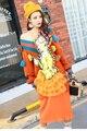 Мелинда Стиль 2016 новых женщин свитер платье V-образным Вырезом трикотажные оборками аппликации оформлен мода платье бесплатная доставка