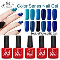 Série Saviland 12 pcs Vermelho Azul Roxo Cinza Marrom Cores Embeber Off UV Unhas de Gel Verniz Brilhante Gradiente Cores Esmaltes Levou Gel Lak