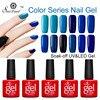 Vrenmol 12pcs Red Gray Purple Blue Brown Series Colors Soak Off UV Gel Nail Varnish Gradient