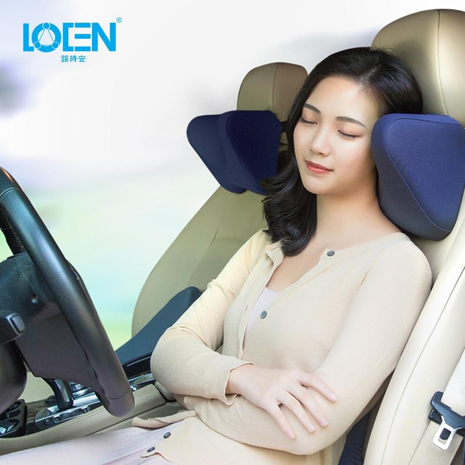 LOEN U Shaped Slow Rebound Memory Foam Neck Pillow Travel Neck Pillow Health Care Headrest Black For Office Flight Car Traveling