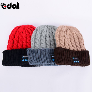 Soft Warm Beanie Hat Headphone Wireless Bluetooth Smart Cap Headset Speaker Mic Hot 3 Colors