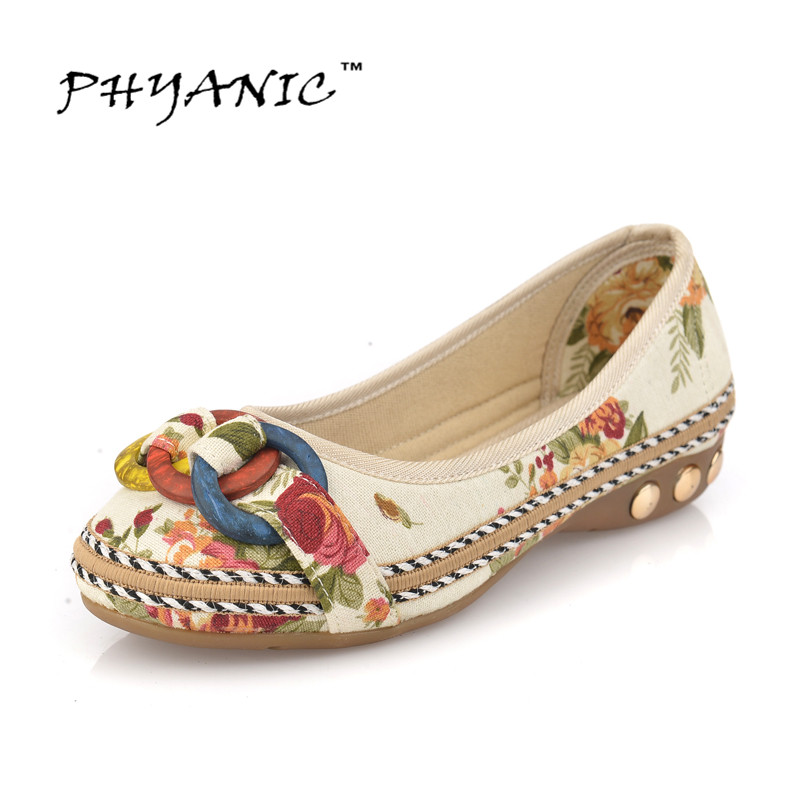 PHYANIC Zapatos Mujer New 2017 Women Flats Fashion Shoes Woman Ballet Ballerinas Loafers Rivets Chaussure Femme Size 34-42 - Zhejiang Meilin Co.,Ltd store
