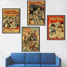 Fairy Tail Posters Anime Wall Decor Retro Paper Prints HD Picture Home Kids Room Bedroom Wall Decoration Cartoon Comic Poster(China)