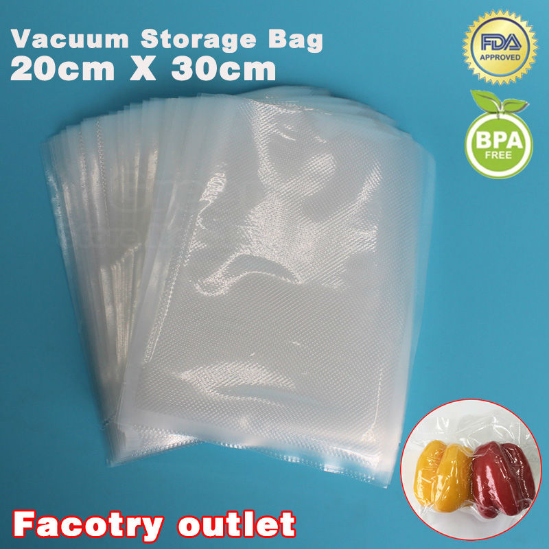 все цены на  20cm x 30cm 100pcs Food Vacuum Heat Sealer Packaging Bag Food Saving Storage Film Keeps Fresh up to 6x Longer  в интернете