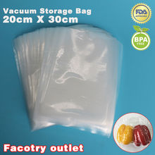 20cm x 30cm 100pcs Food Vacuum Heat Sealer Packaging Bag Food Saving Storage Film Keeps Fresh up to 6x Longer