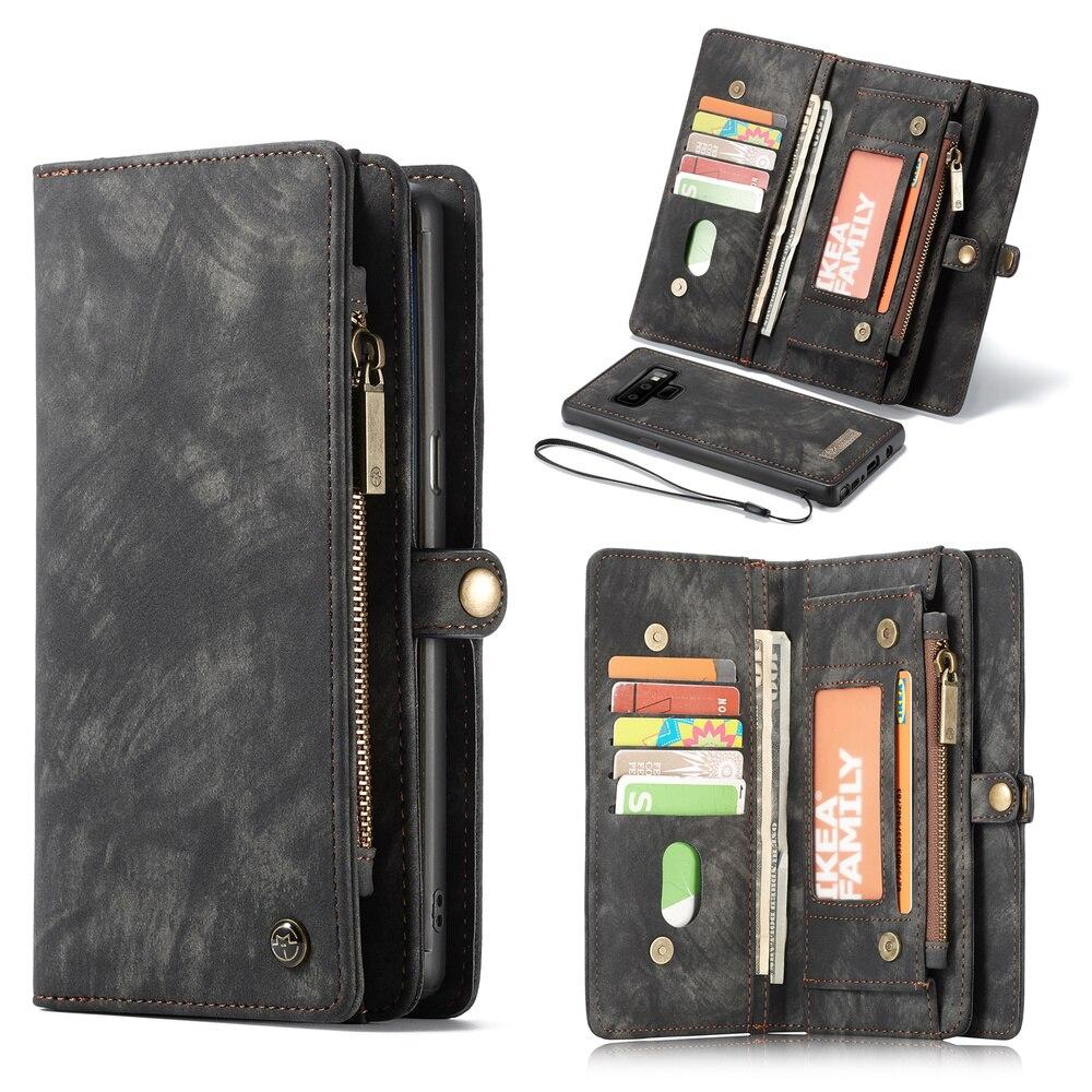 061381bbd Funda cartera magnética de cuero para Samsung Galaxy Note 9 ranuras para  tarjetas de crédito para Samsung Galaxy Note 9 funda cartera en Casos de la  cartera ...