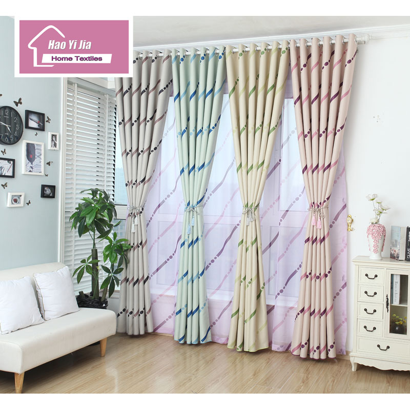 Blackout Shades Curtains Latest Rainbow Design Minimalist Living Room Bedroom Window Five Colors To Choose From
