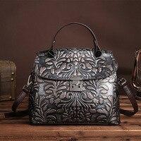 Retro Style Genuine Leather Women S Handbag Small Mini Crossbody Shoulder Sling Bag Casual Tote Messenger