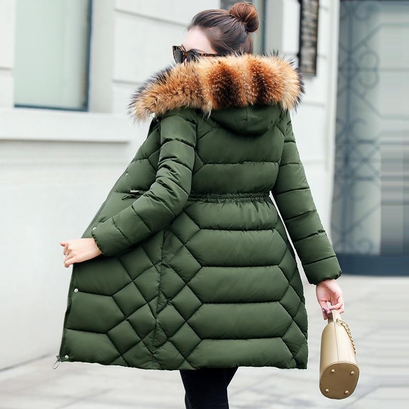 Kadın Giyim'ten Parkalar'de Gerçek Kürk Yaka Parka Kadın Kış Aşağı Ceket 2019 Kış Ceket Kadınlar Kalın Kar Giyim Kış Ceket kadın giysisi Kadın Jacke'da  Grup 1
