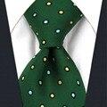 A16 Verde Azul Amarillo Lunares Corbatas De Seda para hombre de Moda Para Hombre Clásico Corbata Boda de tamaño extra largo Pañuelos
