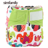 1Pc Reusable Waterproof Bambool AIO Baby Cloth Diaper Nappy 3 36 Months Baby Use Wholesale Selling