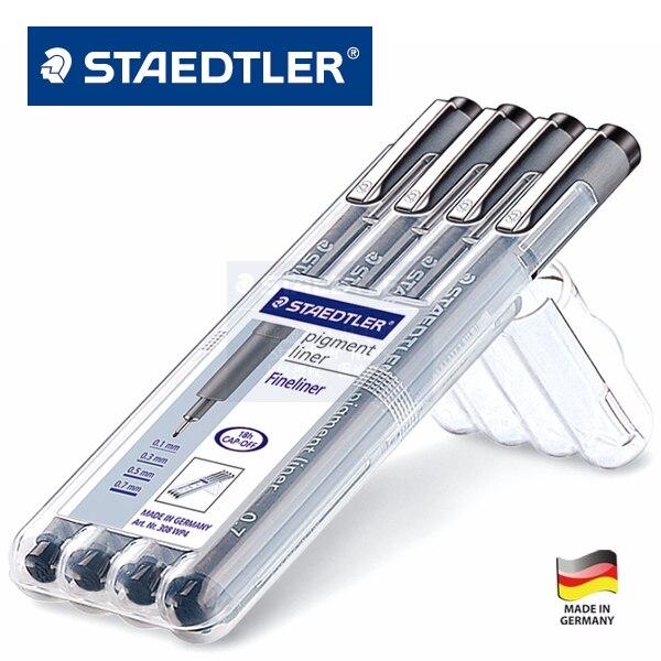 LifeMaster Almanya Staedtler 308 WP 4 Kalem Set Pigment Astar Fineliner 0.1mm, 0.3mm, 0.5mm, 0.7mm cetvel kalemiLifeMaster Almanya Staedtler 308 WP 4 Kalem Set Pigment Astar Fineliner 0.1mm, 0.3mm, 0.5mm, 0.7mm cetvel kalemi