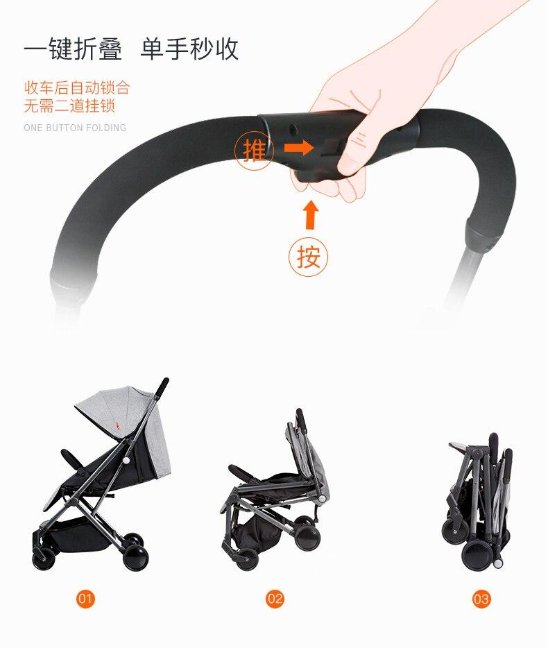 Bebê carrinho de bebê portátil dobrável carrinho