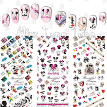 3 Sheets/Lots Nail Water Transfer Stickers Decals Manicure Watermark Tips HOT310-312 Mickey Minnie Couple Love Cute Mouse