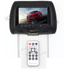 7 inch car Monitor General Car Headrest with touch button and remote control Beige/Gray/Black AV USB SD MP5 FM