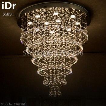 Runden kristall kronleuchter Wohnzimmer Restaurant hängenden draht kristall  lampe führte schlafzimmer lampe lampen kreative Beleuchtung idr-0023