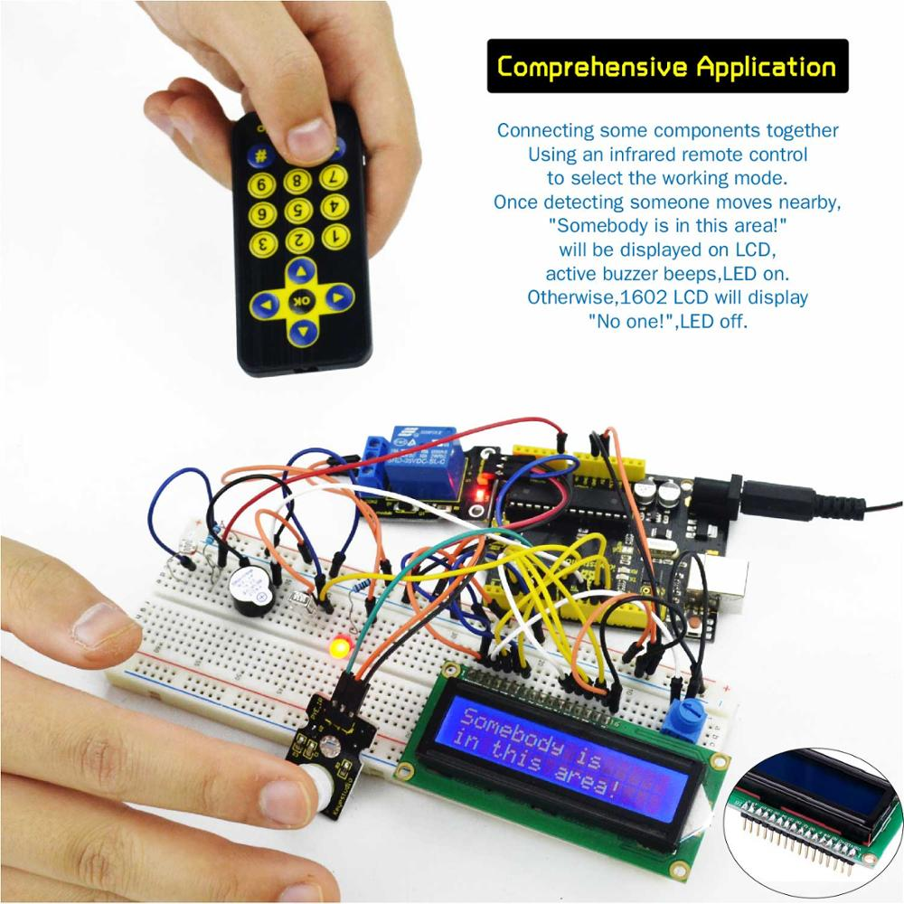 Keyestudio Super Starter kit/ RFID Learning Kit Compatible with  Arduino Starter kit (UNOR3) With Tutorial/Gift Box