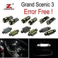 20pc x For 2009 2016 Renault Grand Scenic III 3 MK3 No Error Car LED bulbs Interior Reading dome map trunk door Light Kit