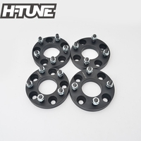 H TUNE 4PCS Forged Aluminum Black 5x114.3PCD 67.1CB 25mm Wheel Spacers fit for Lancer EVO RX7 MPV MX5