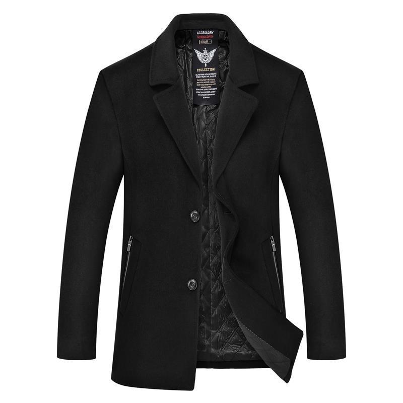 Long Black Porter Blue Manteau Homme Loisirs Hommes Moyen navy Grande Coatovercoat Taille Mens Cachemire Laine Pardessus Veste 8xl 7xl D'hiver dCxoeWrB