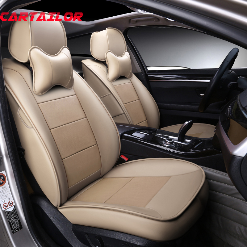 CARTAILOR Leather Car Seats for Mercedes Benz CLK Car Seat Cover Accessories Custom Fit Auto Covers for w208 w209 Seat Protector