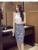 Leiouna 2017 nova primavera sexy magro faldas mulheres elastic cintura alta xadrez impressão saia lápis escritório formal vintage midi floral