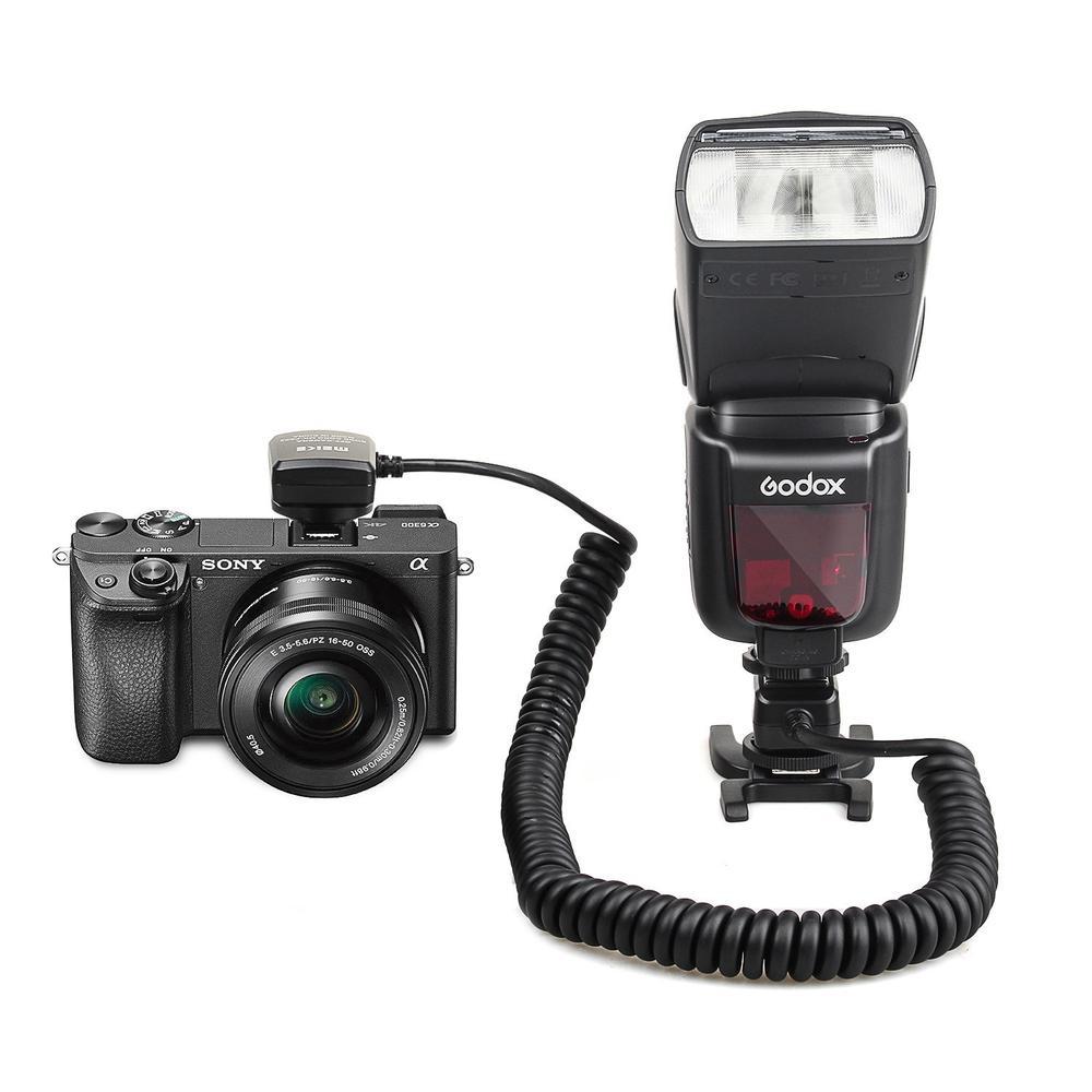 Meike MK-FA02 3M TTL Off Camera MI Multi Interface Hot Shoe Flash Sync Cable Cord For Sony Speedlite HVLF20M HVLF32M HVLF60M meike ttl off camera flash remote shoe cord for canon