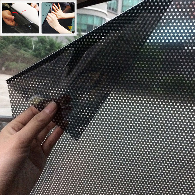 2pcs/lot 70*49 Cm UV Sticker Car Sunshades Electrostatic Sticker Side Window Sunshades Sunscreen Film Sticker Car Cover Styling