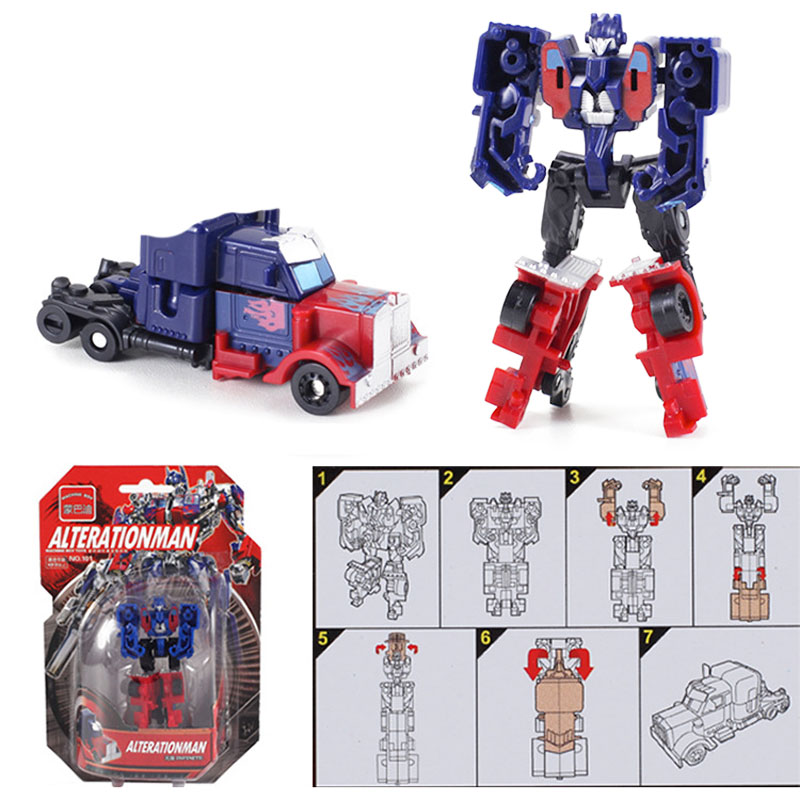 Image 4 - Kitoz Transformation Series Mini Robot Car Action Figure Model Deformation Plastic Toy Gift for Boy Children-in Diecasts & Toy Vehicles from Toys & Hobbies