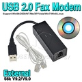 Dial Up Voice External USB 2.0 56kbs USB Fax Modem with Telephone RJ11 Cablefor Windows XP/ Win 7/8/Linux