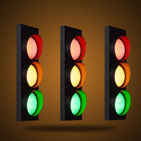 Industrial Wind Creative Personality Retro Restaurant Cafe Bar LED Traffic Light Caution Wall Lamp