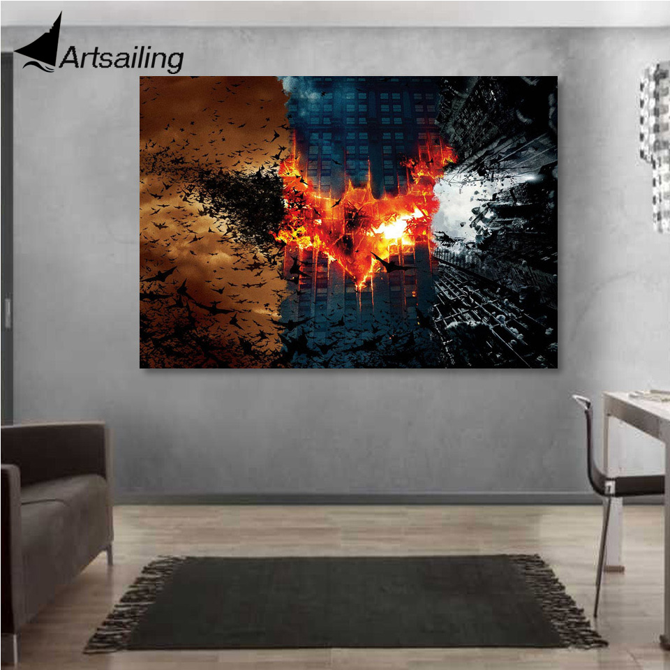 1 Piece Canvas Art Poster Batman Movie HD Painting Wall Prints Home Decor Pictures for Living Room XA1446C