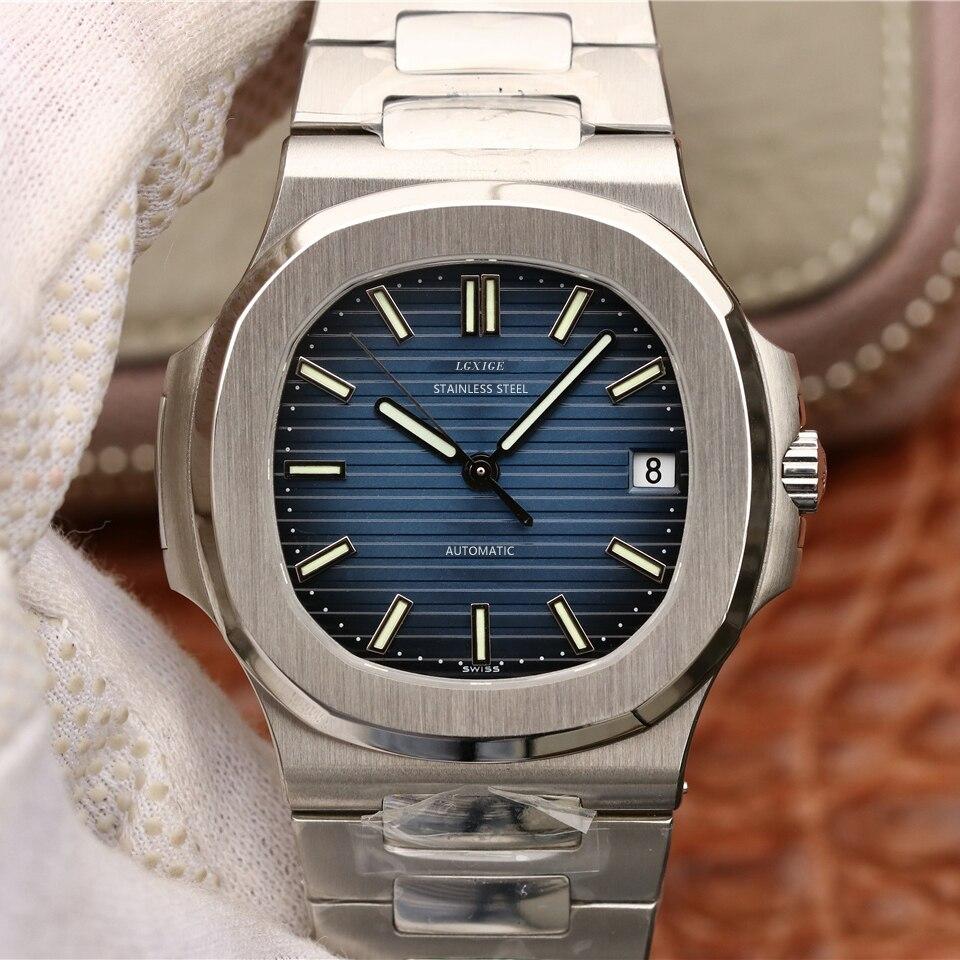 LGXIGE montre automatique hommes top marque de luxe mode affaires montre bracelet en acier montre-bracelet richard mille relojes automaticos 2019