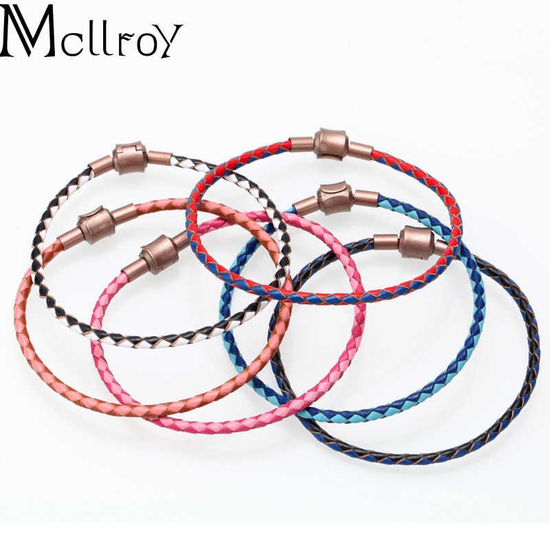 Mcilroy para bransoletka/dla mężczyzn kobiety/skórzany łańcuch charm bransoletki bangles handmade diy męskie damska biżuteria akcesoria 6 kolor