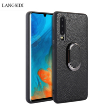 Multi-functional bracket for huawie p30pro High end Business case hauwei p30 p20pro P20 Car leather phone