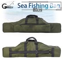 9b1650128 Impermeable 80 cm pesca bolsa de tela Oxford plegable pesca carrete de pesca  bolsas de almacenamiento llevar de viaje caso