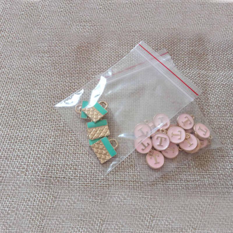 500 pcs 9x13 cm ziplock sacos transparentes sacos de plástico transparente pe saco zip lock para o pano/natal/presente/Jóias Embalagem saco de Exibição