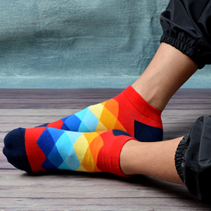 Image 3 - SANZETTI 12 Pairs/Lot Mens Casual Summer Ankle Socks Colorful Happy Funny Combed Cotton Short Socks Wedding Party Dress Socks