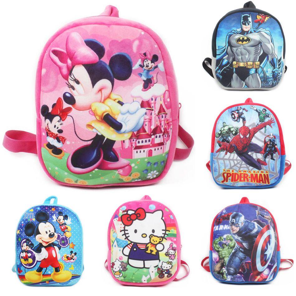 Hello Kitty Cartoon Plush School Backpack For Kids Mickey Minnie Students In School Bags Children Backpacks Mochila Infantil