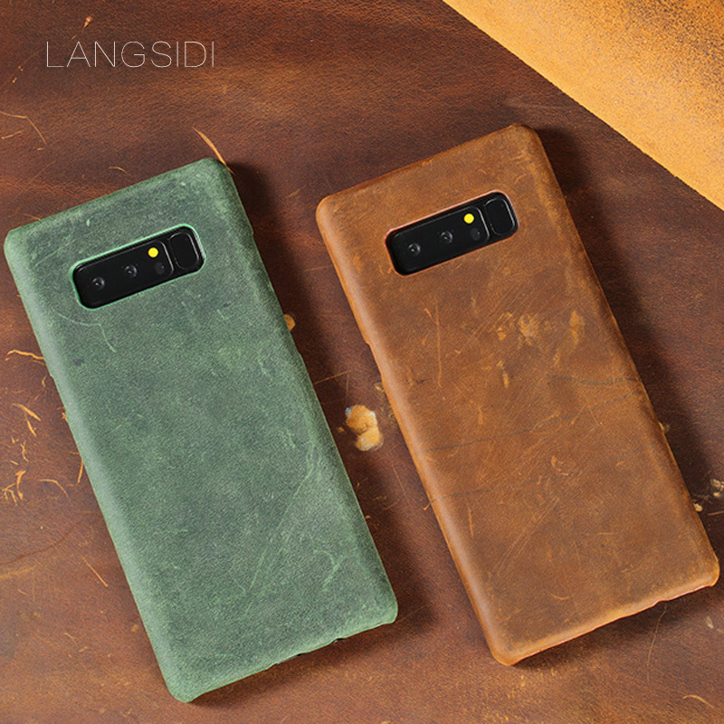 Cases For Samsung Galaxy On7 case Luxury handmade cow leather back case phone case in Half wrapped Cases from Cellphones Telecommunications