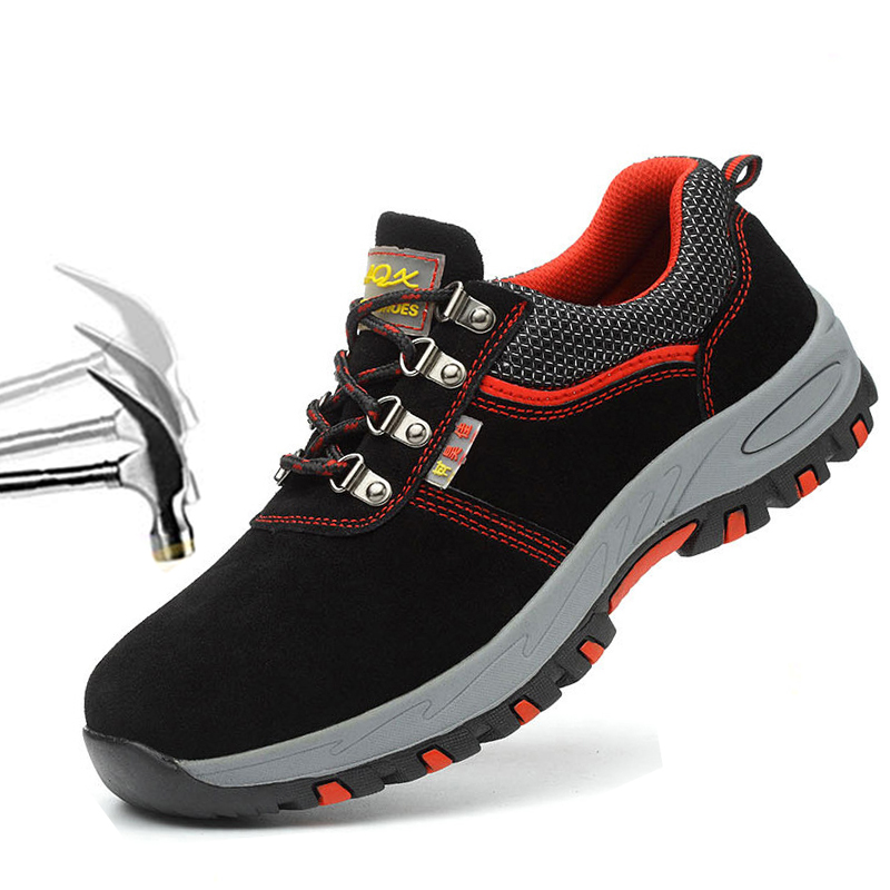 Toe-Shoes Sneakers Safety-Boots Protective Work Puncture-Proof Steel Breathable Men Casual