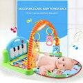 Yobee Multifunções Piano de Rack de Fitness Com Música Chocalho Do Bebê Recém-nascido Infantil Esteira do Jogo Atividade Crianças Brinquedos Educativos