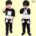 Free shipping 2016 autumn new arrival 3D cartoon fashion children boy clothing set,100% cotton full sleeve kids clothes