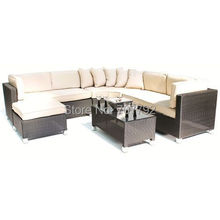 Barcelona Rattan Living Room Sets Corner Sofa Group