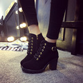 Double 11 special women Pumps sexy high heels platform ankle boots for women botas femininas thin heel lace up night high heel