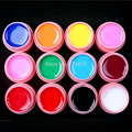 New DIY 12 Pcs Solid Color Mix Pure Nail Art UV Builder Gel Set for Acrylic Tips white POT