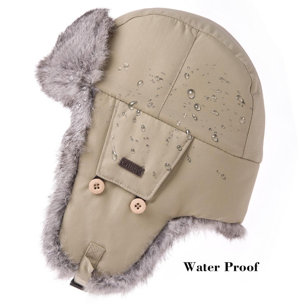 FANCET Hombre Bombardero Sombreros Trapper Ushanka Ruso Orejeras A - Accesorios para la ropa - foto 3