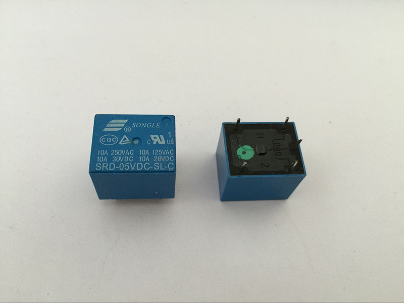 5PCS Relay SRD-05VDC-SL-C 5V 10A 5P T73 Power relay One on one off