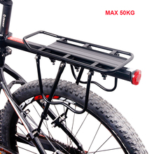 Bicycle Luggage Carrier Cargo Rear Rack Shelf Aluminum Alloy 50kg adjustable Cycling Seatpost Bag Holder Stand Bike Accessories