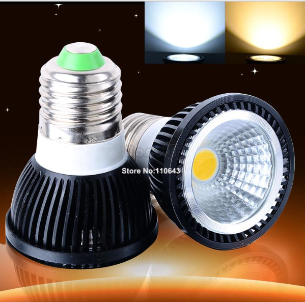 New Black Aluminum COB <font><b>LED</b></font> Spotlight 6W 9W 12W 100LM/W Cold White Warm White E27 GU10 MR16 <font><b>LED</b></font> Spot Light Bulb For Home Lighting image